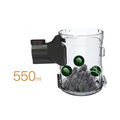 Veliký zásobník na nečistoty - 550ml