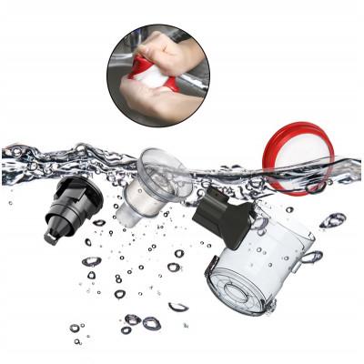 čištění pod běžící vodou - Dibea V008 PRO tyčový bezdrátový vysavač 2 v 1