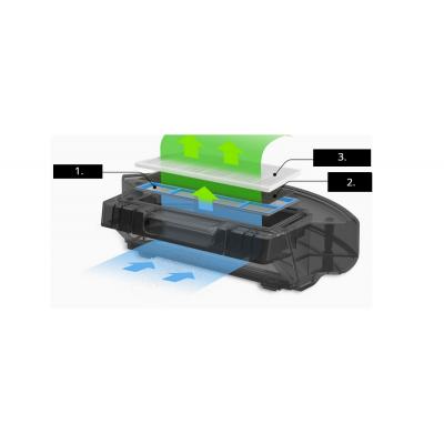 speciální zásobník na špínu Robotický vysavač ZACO A8s