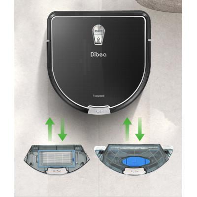 nádrže k práci na sucho a na mokro Robotický vysavač Dibea D960