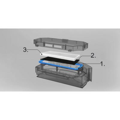 filtr HEPA v nádrži na nečistoty