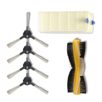 Zestaw akcesoriów do Dibea D960 szczotki boczne, szczotka obrotowa, filtry hepa